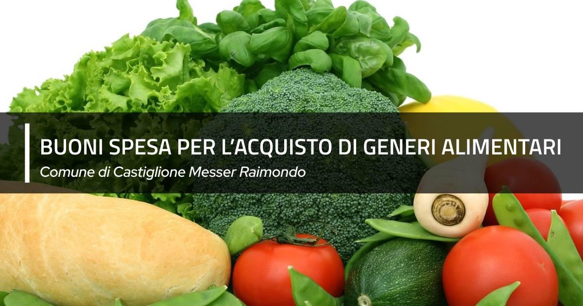 Assegnazione di buoni spesa per l'acquisto di generi alimentari presso le locali attività commerciali aderenti all'iniziativa