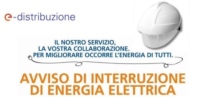 Avviso di interruzione energia elettrica lunedì 31 maggio 2021